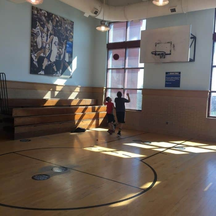 basketball court at  NCAA Hall of Champions
