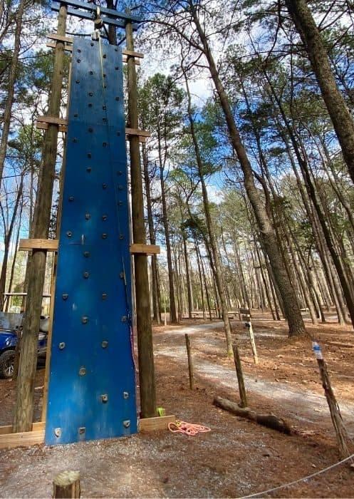 climbing wall at GoFAR USA Park