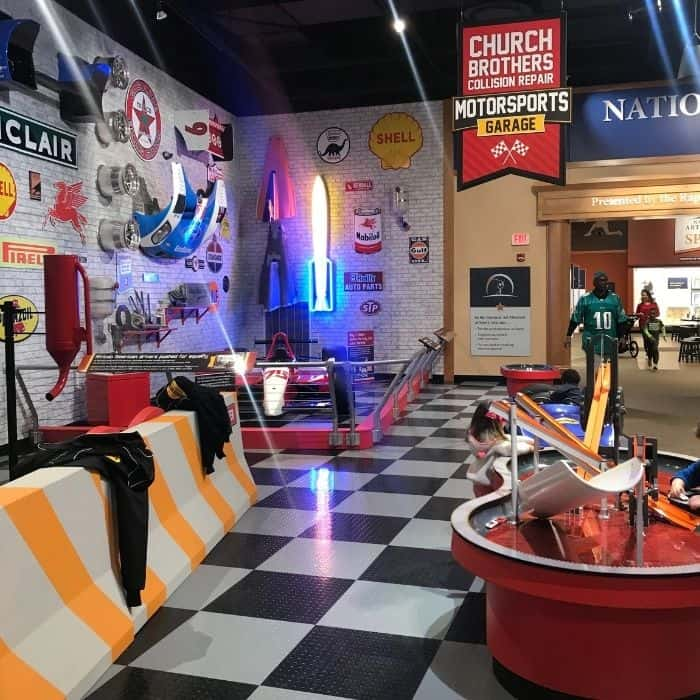 indoor exhibit at The Riley's Health Sports Legends Experience