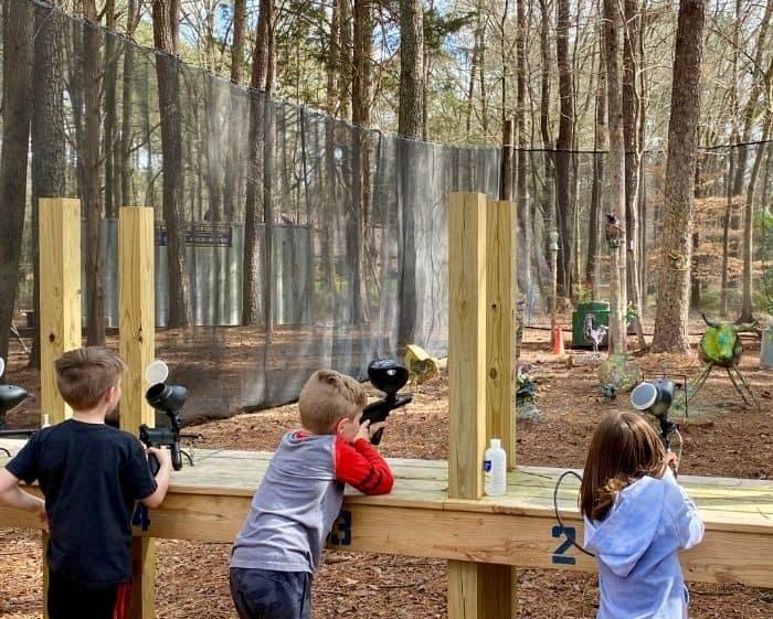 kids at paintball shooting range at GoFAR USA Park