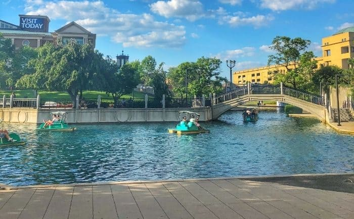 paddleboats on the Indianapolis Canal