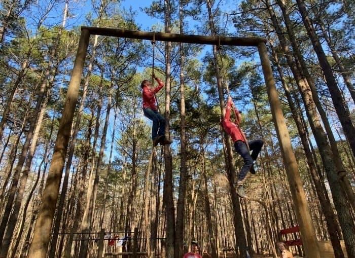 rope climb at GoFAR USA Park