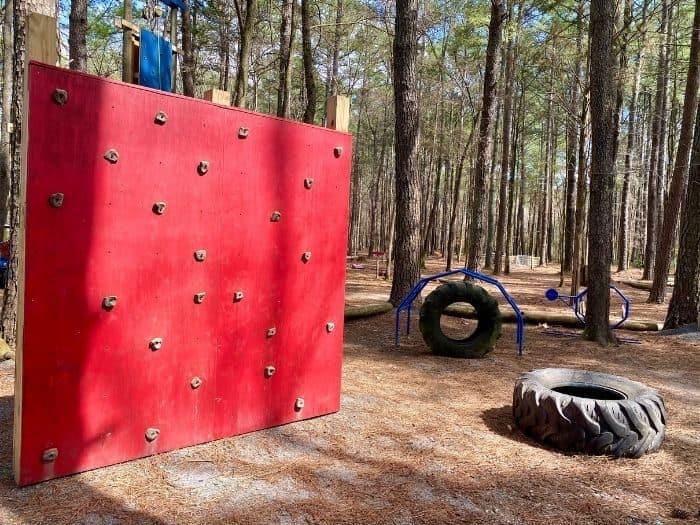 smaller climbing wall at GoFAR USA Park