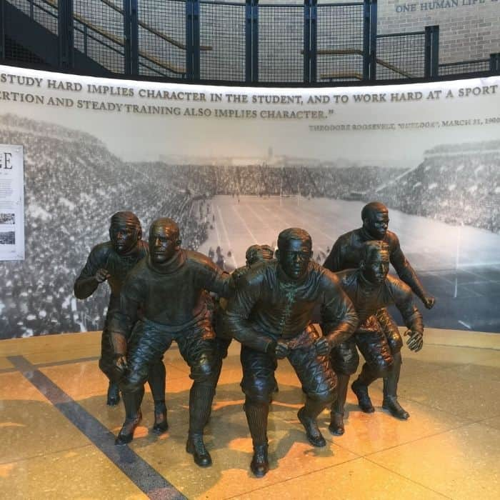 statues at NCAA Hall of Champions