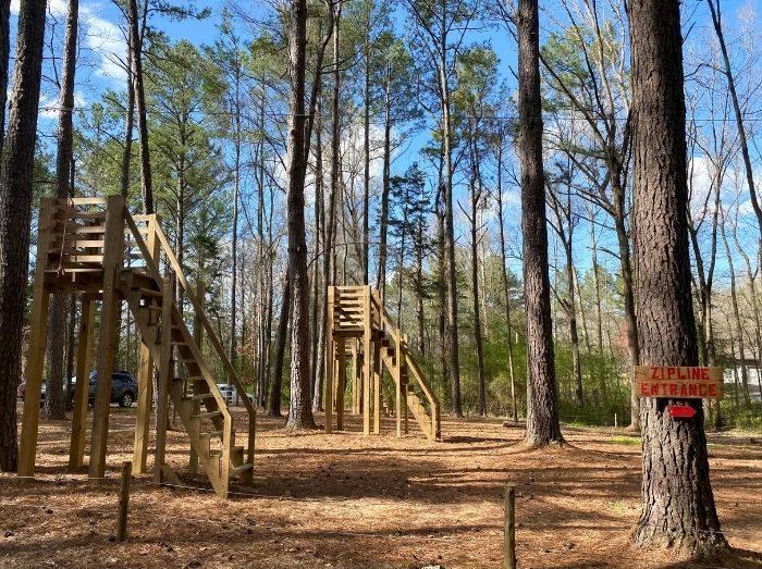ziplines at GoFar USA Park