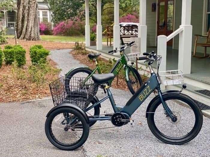 Buzz electric bikes at The Roost Boutique Hotel