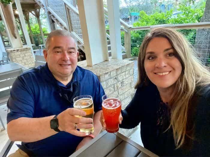 Nedra McDaniel and Dad at Big Beach Brewing Company