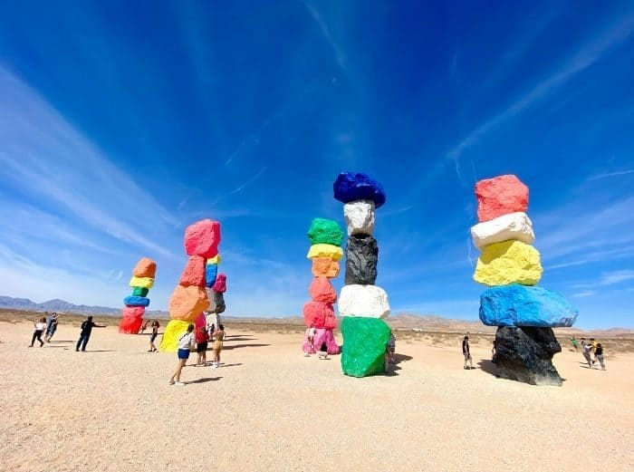 Seven Magical Mountains in Nevada