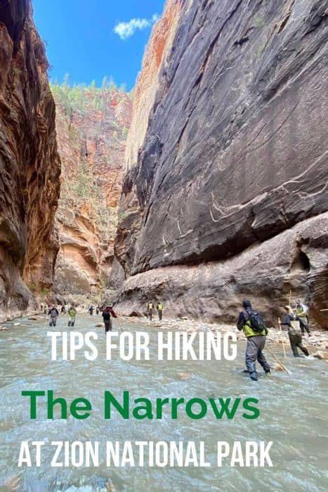 Tips for hiking The Narrows at Zion National Park