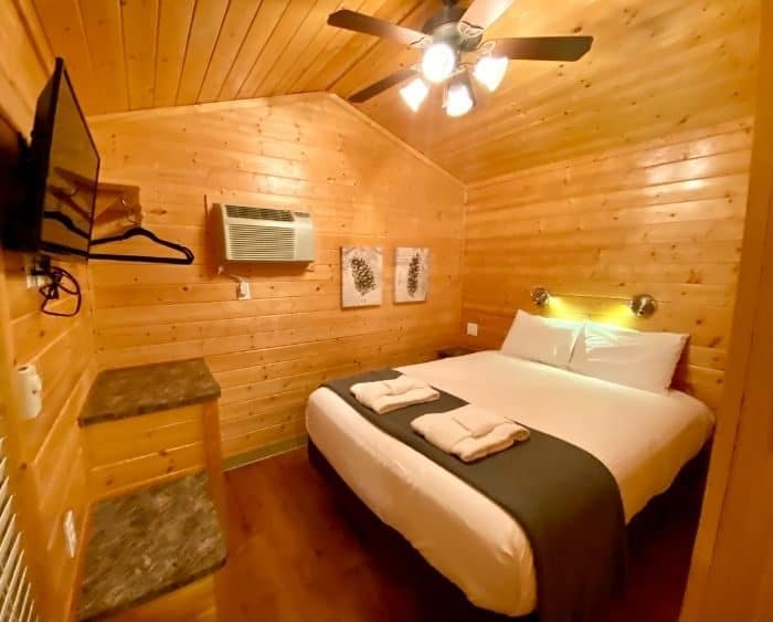 bedroom for the deluxe cabin