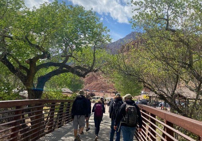 bridge to Zion National Park visitor Center