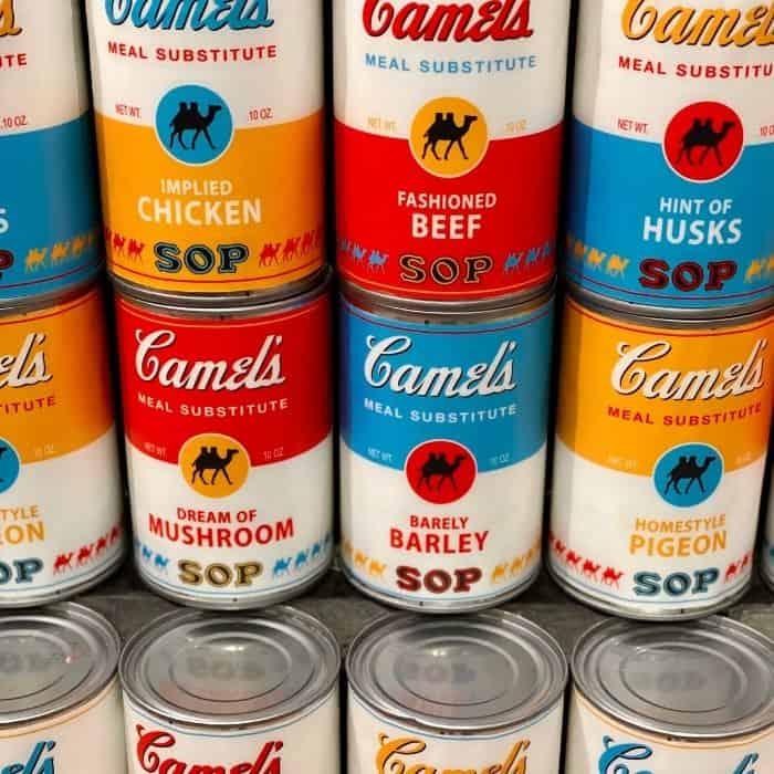 camel soup at Omega Mart