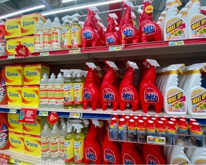 cleaning products at Omega Mart