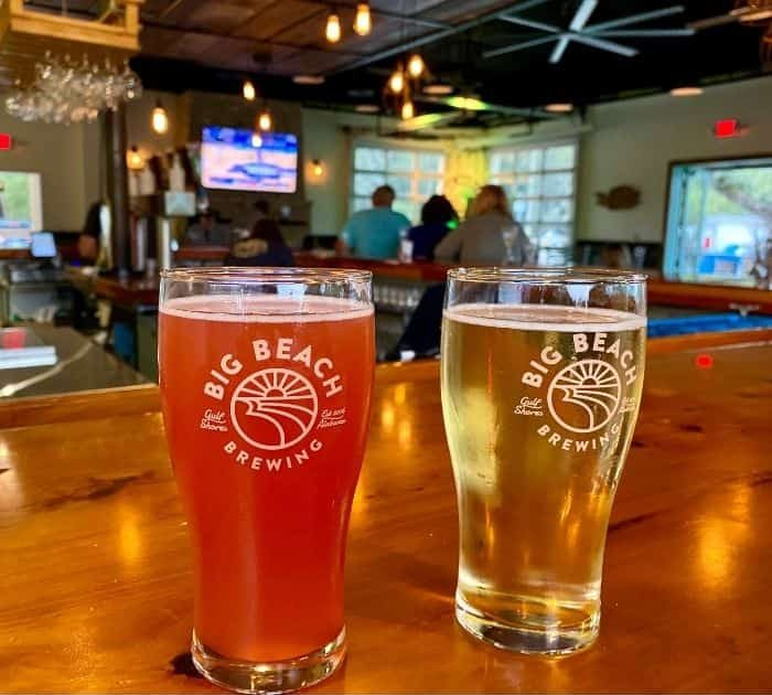 craft beers at Big Beach Brewing Company Gulf Shores