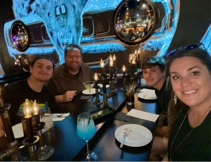 family at The Beast by Todd English Restaurant in Las Vegas