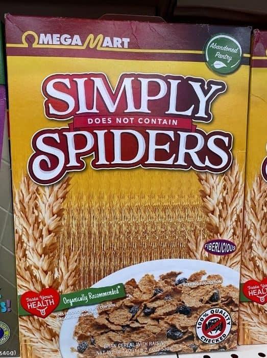 funny cereal box at Omega Mart Las Vegas
