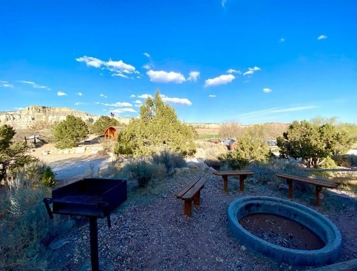 group fire pit at Cannyonville Bryce Canyon KOA
