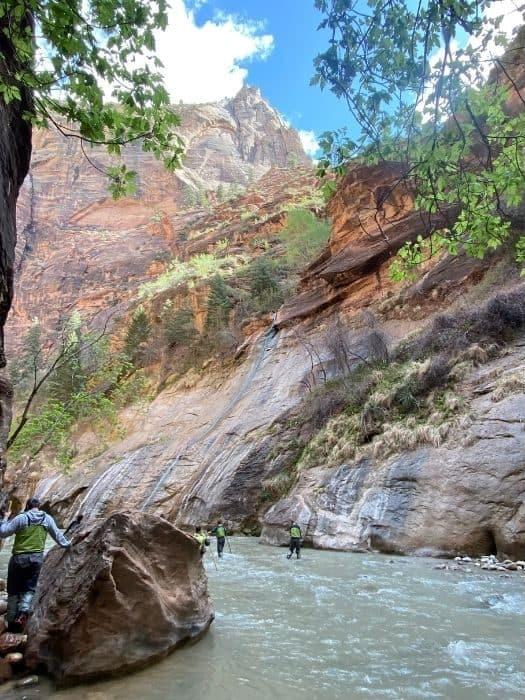 hikers at The narrows