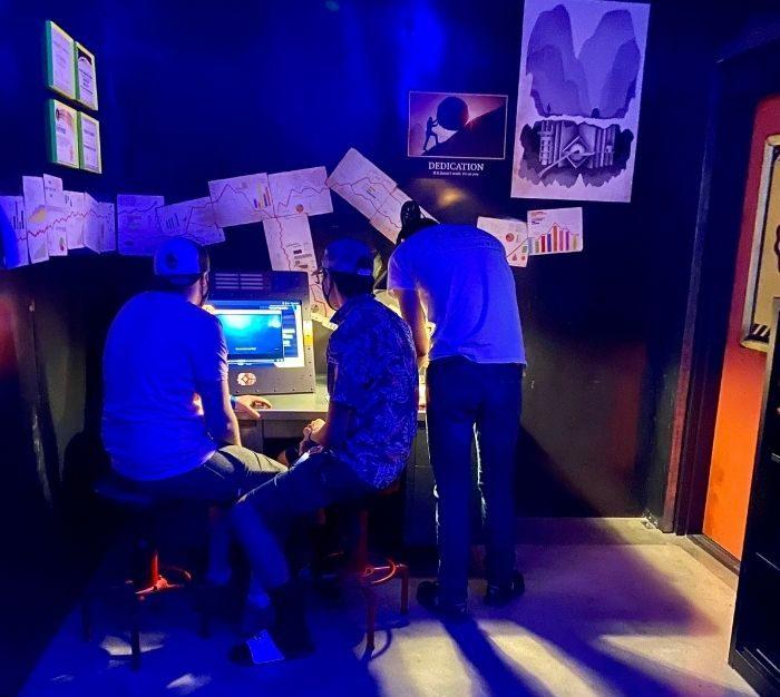 interactive exhibit at Omega Mart
