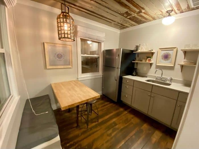 kitchen for Shearwater Suite at The Roost boutique Hotel