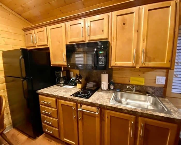 kitchen for the deluxe cabin for the deluxe cabin