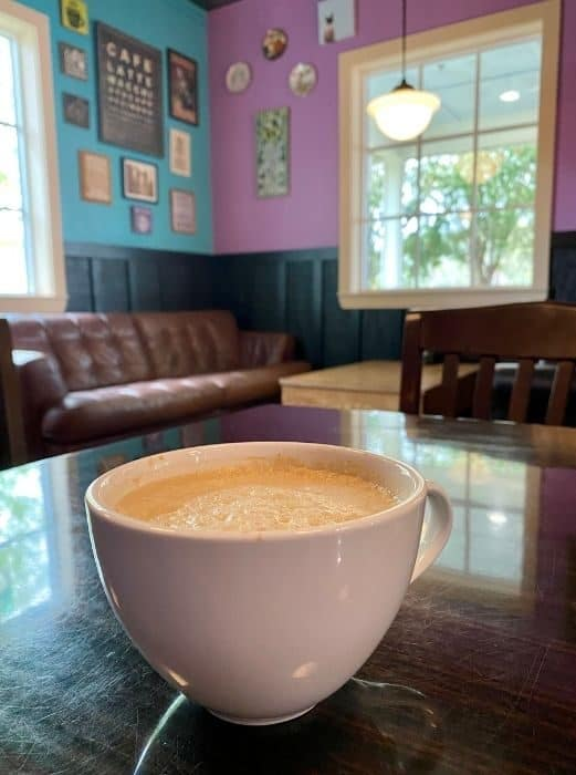 latte at BuzzCatz Coffee & Sweets