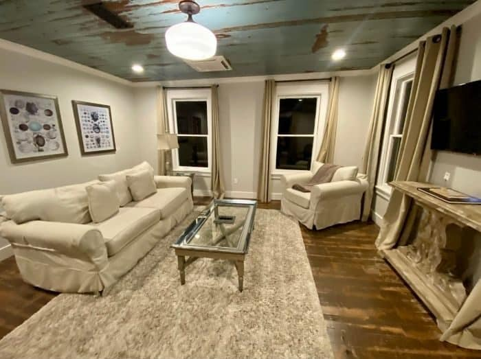 living room for Shearwater Suite at The Roost boutique Hotel