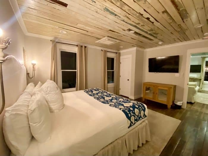 master bedroom for Shearwater Suite at The Roost boutique Hotel