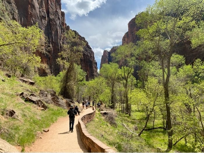 paved hike to the entrance of The Narrows