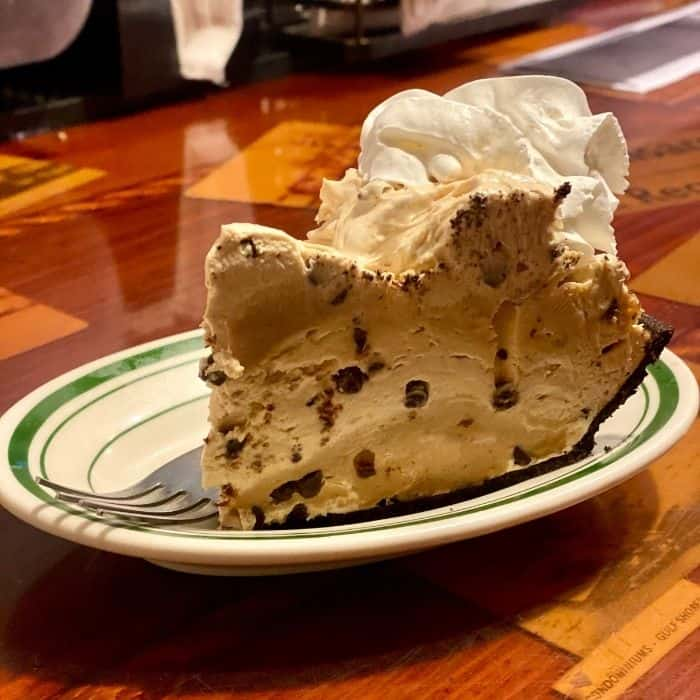 peanut butter pie at the Original Oyster House Gulf Shores