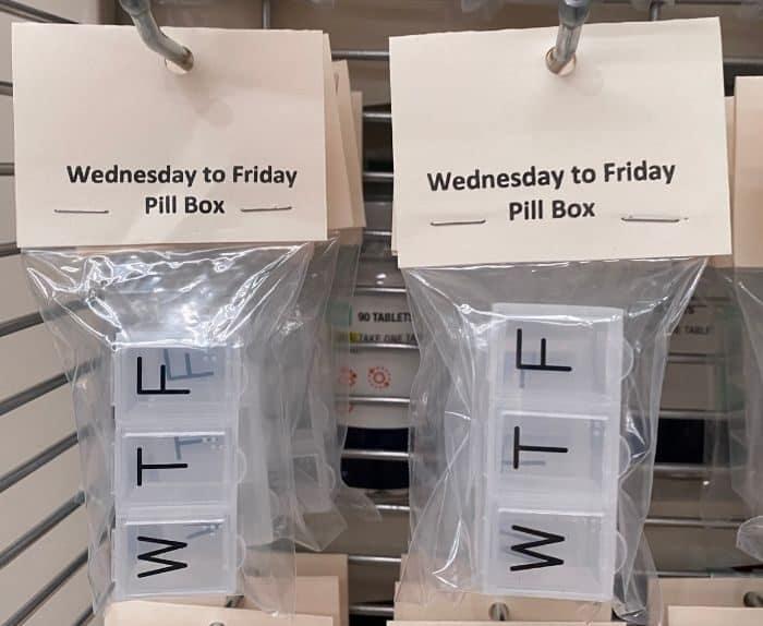 pill box in Omega Mart
