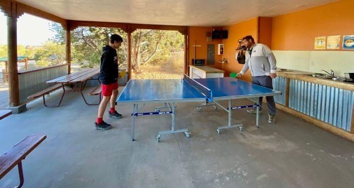 ping pong table at Cannonville Bryce Canyon KOA