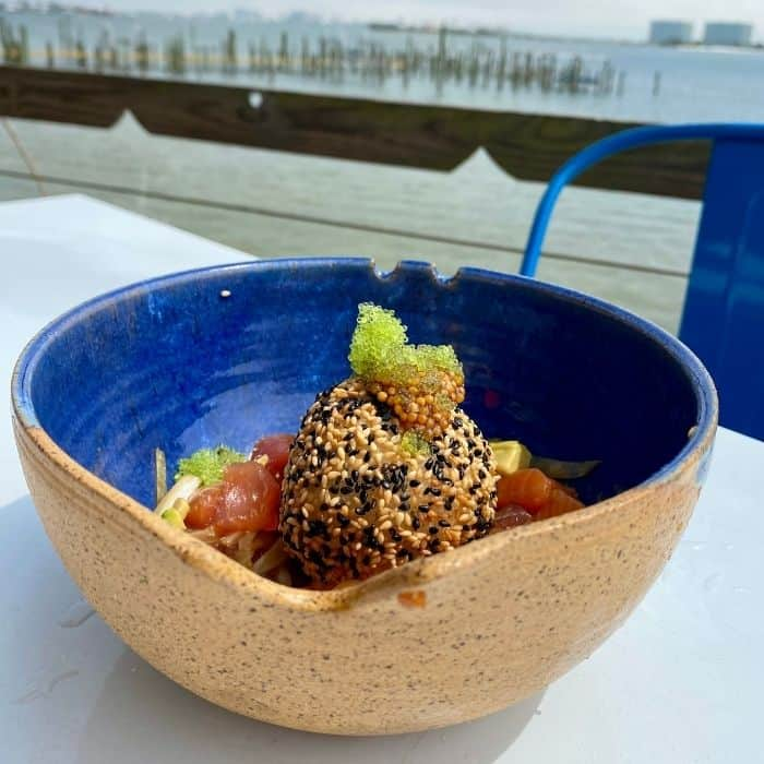 poke bowl at Anchor Bar and Grill Orange Beach