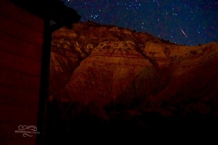 shooting star in Cannonville Utah