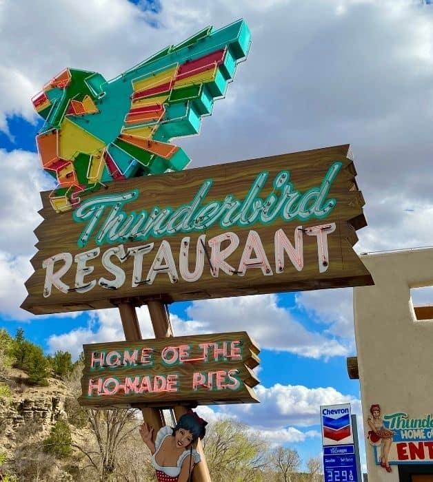 sign for the Thunderbird Restaurant in Utah