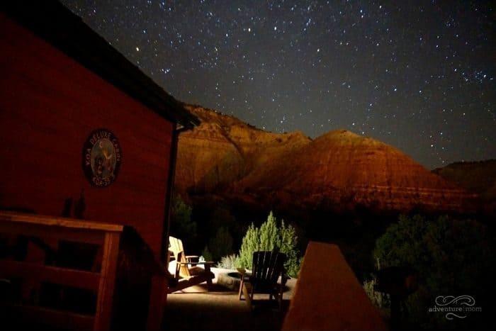 stars at Cannonville Bryce Valley KOA Holiday