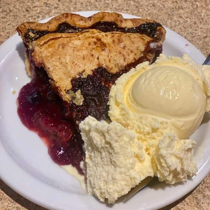 thunderberry pie at  Thunderbird Restaurant in Utah