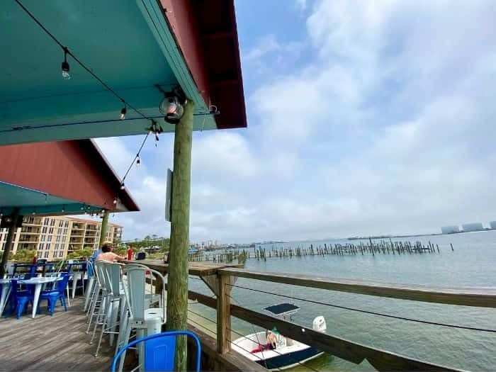 view from Anchor Bar and Grill Orange Beach