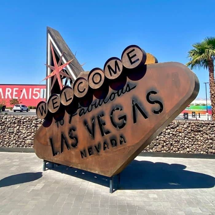 welcome to Las Vegas sign at area15