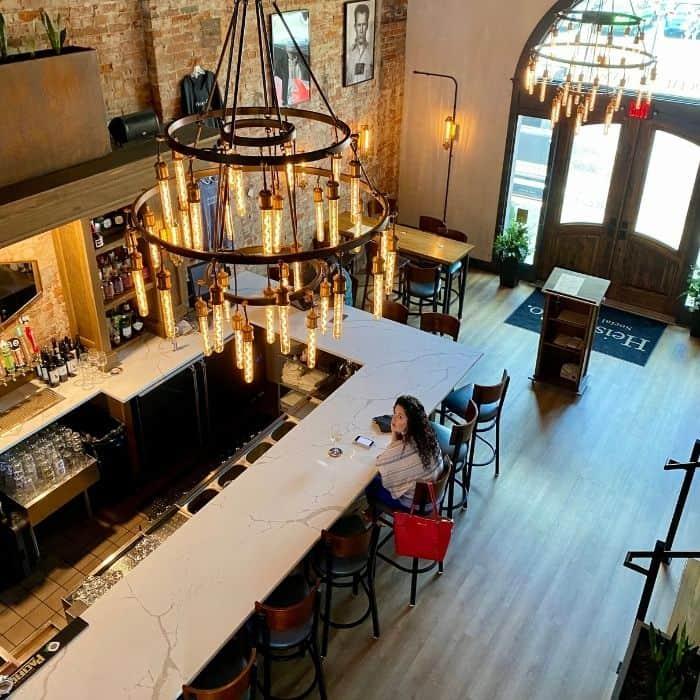 Bar inside Heist +Co in Harrison Ohio