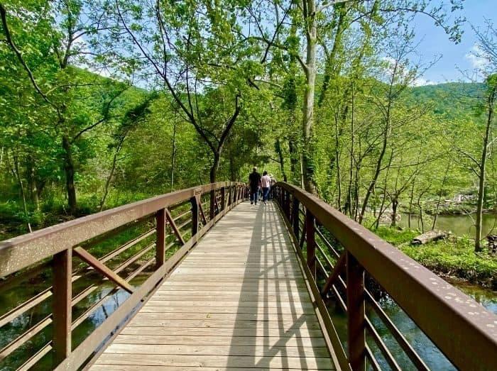 Boardwalk at Sandstone Falls in West Virginia