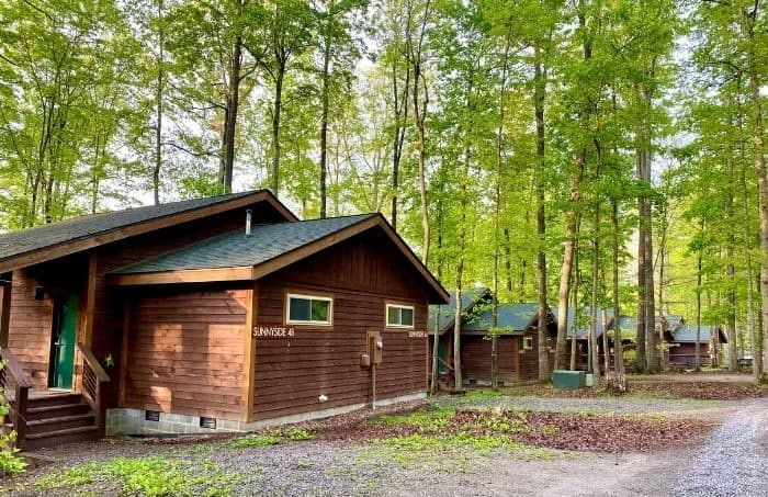 Cabins at Adventures on the Gorge in West Virginia