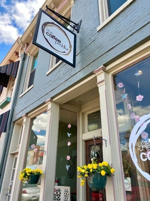 Coffee Peddler coffee shop in downtown Harrison Ohio