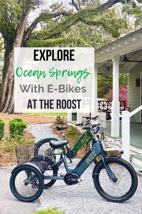 Explore Ocean Springs With E-Bikes at The Roost