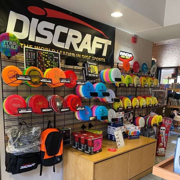 Frisbee discs for sale at Miami Whitewater Forest