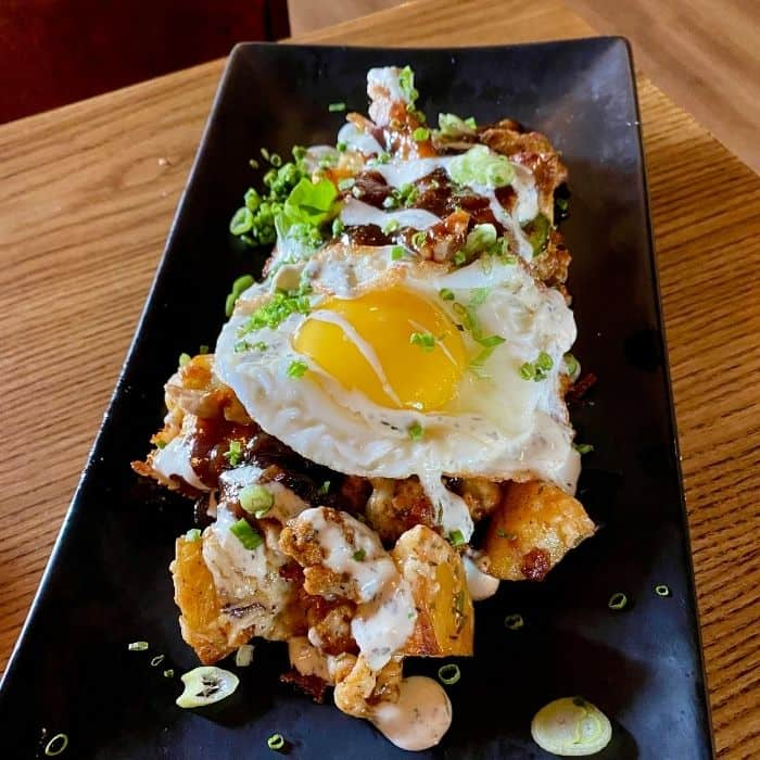 Loaded Fingerling Potatoes with poutine at  Heist + Co. Harrison Ohio
