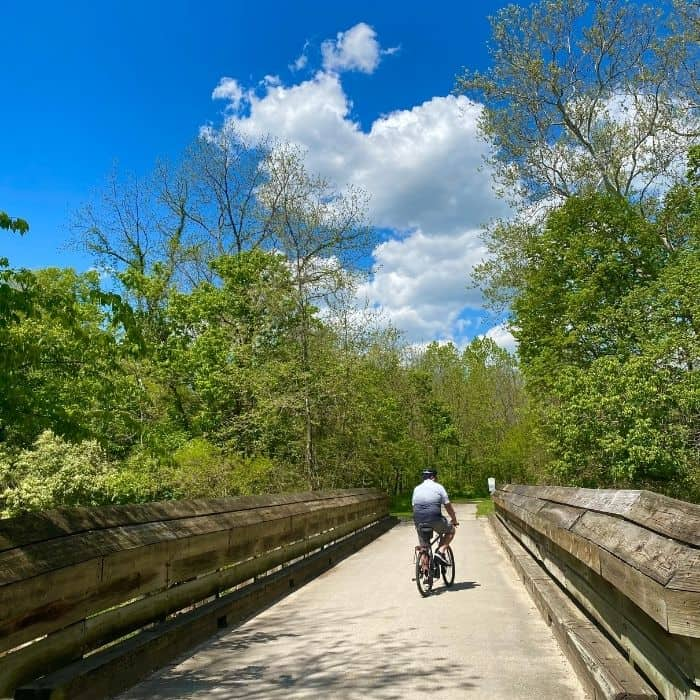 bike trail at Miami Whitewater Forest