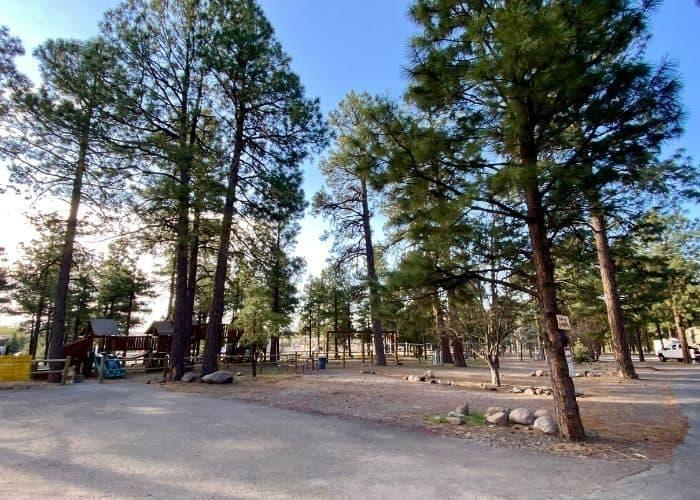 campsites at the Flagstaff KOA Holiday