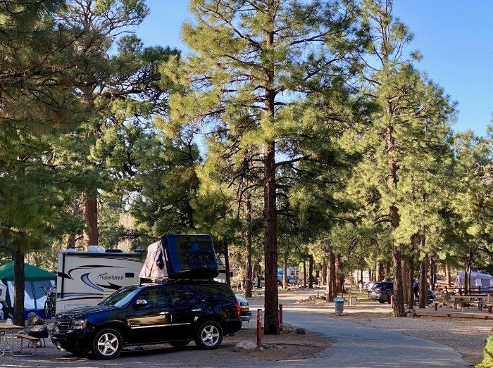 campsites at the Flagstaff KOA Holiday in Arizona