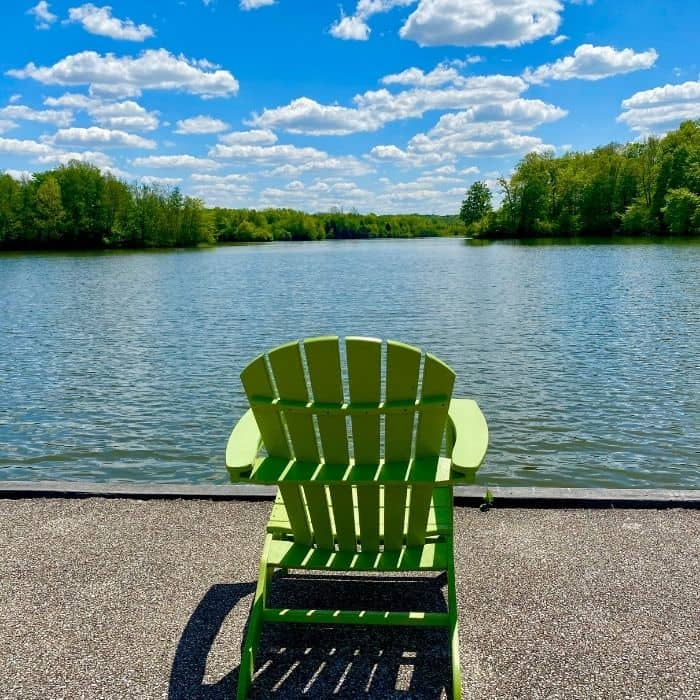 chair by the lake at Miami Whitewater Forest
